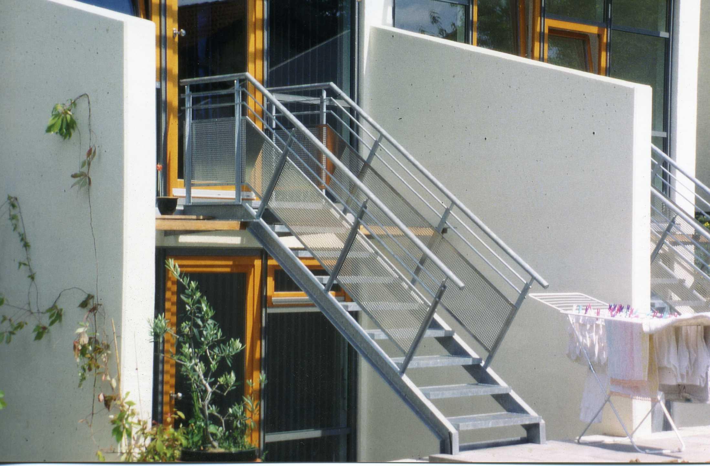 Stahltreppe im Garten, Stuttgart 2006 – MetallFux.de