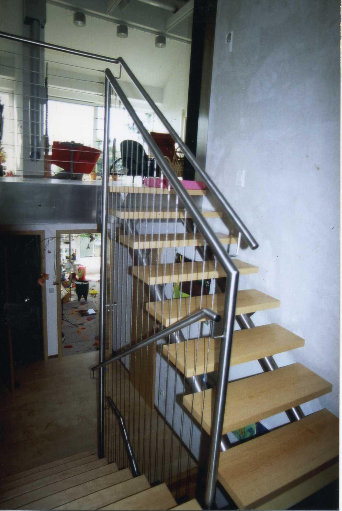 Treppe mit Handlauf, Stuttgart, 2006